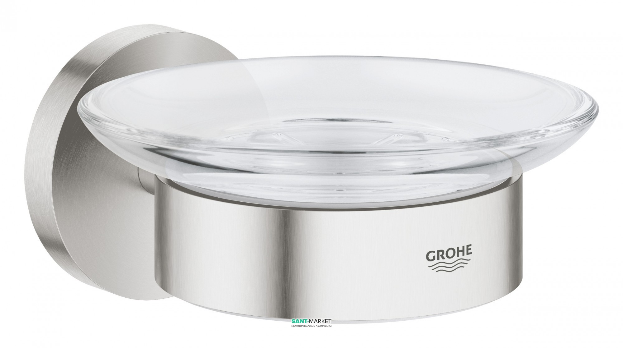 grohe Мыльница с держателем Grohe Essentials суперсталь 40444DC1
