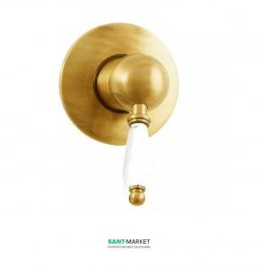 Смеситель для душа скрытого монтажа Fiore IMPERIAL золото/керамика 83OO5130