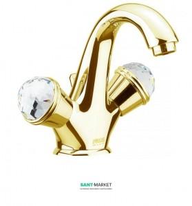 Смеситель для раковины на 1 отверстие Fiore XT SKY золото/Swarovski 17OO0623