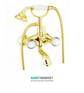 Смеситель для ванны c ручным душем Fiore XT SKY золото/Swarovski 17OO0610