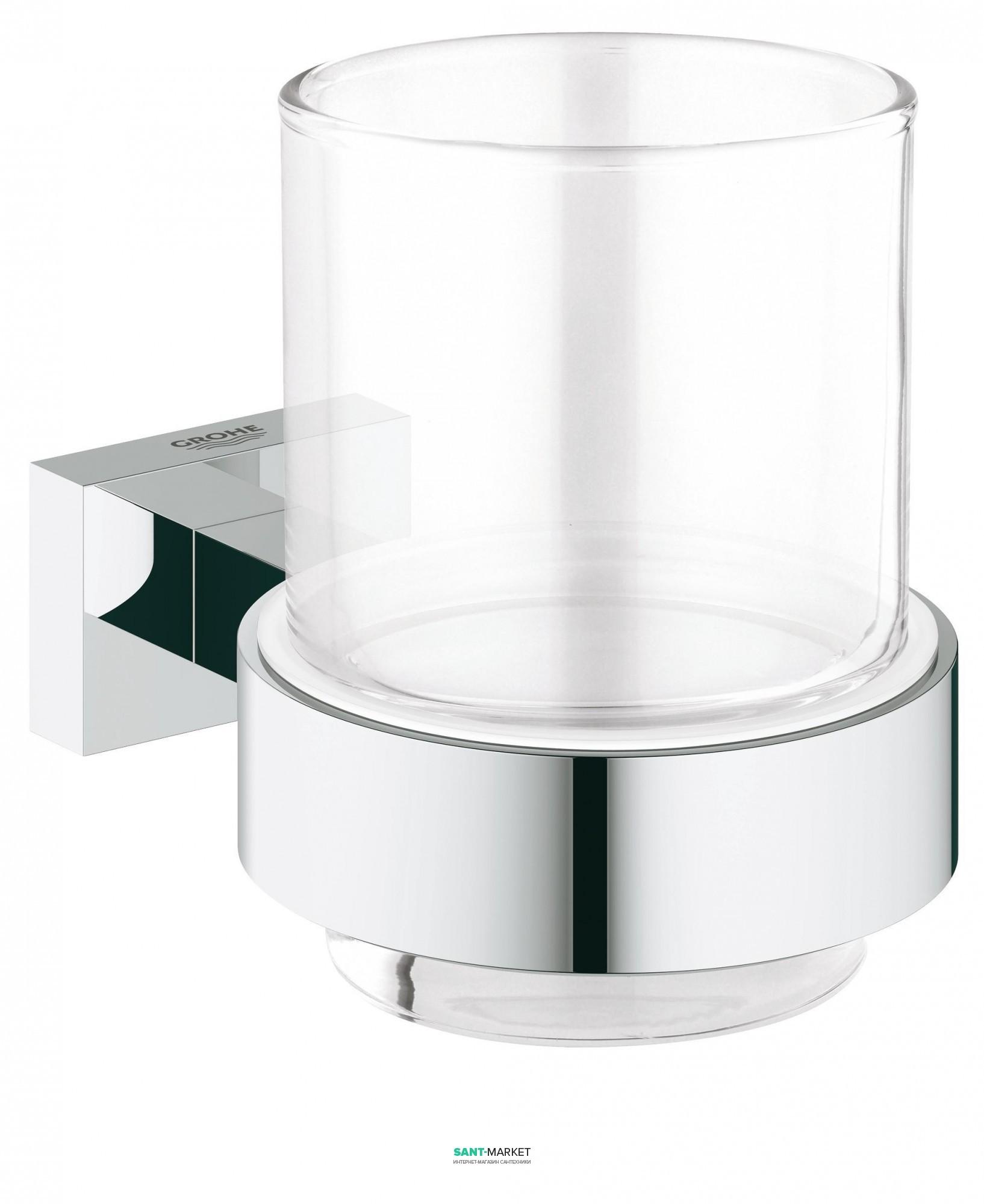 grohe Стакан с держателем Grohe Essentials Cube хром 40755001