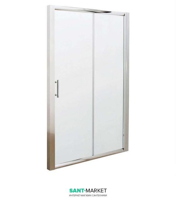 Душевая дверь в нишу Kolo GEO 6 стеклянная раздвижная 110х190 часть 1/2 GDRS11222003A