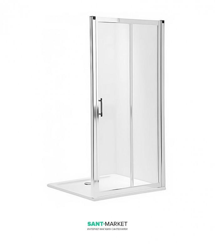 Душевая дверь в нишу Kolo GEO 6 стеклянная раздвижная 120х190 часть 1/2 GDRS12205003A