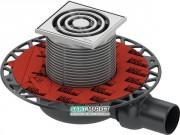 Дренажный трап для душа TECEdrainpoint S S110 низкий с горизонтальным выходом нержавеющая сталь/пластик 3601100