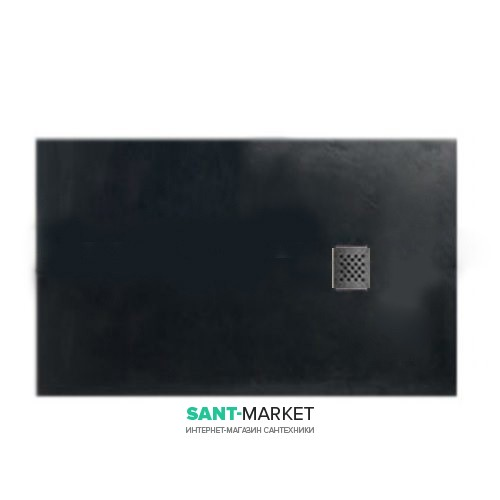 Душевой поддон мраморный Kerasan H2.5 140х70 см антрацит 703554