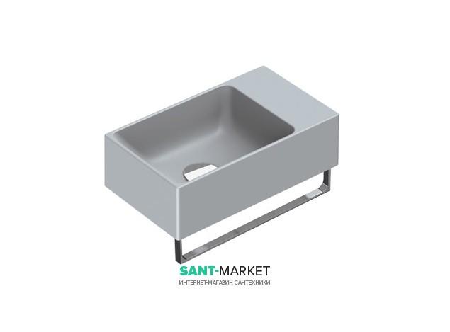 Раковина для ванной накладная Catalano New Zero 40х23 керамическая цвет серый матовый 14023VECS