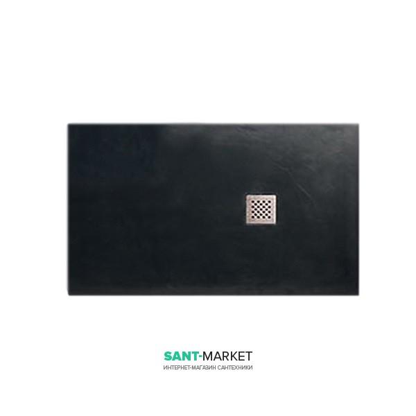 Душевой поддон мраморный Kerasan H2.5 100х80 см антрацит 703954