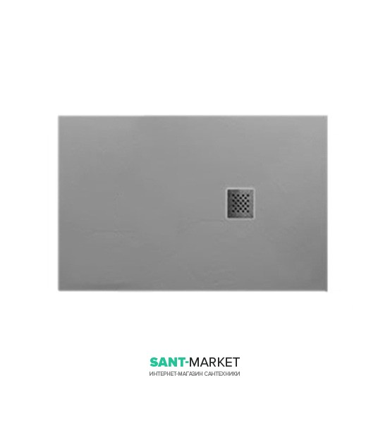 Душевой поддон мраморный Kerasan H2.5 140х80 см серый матовый 704159