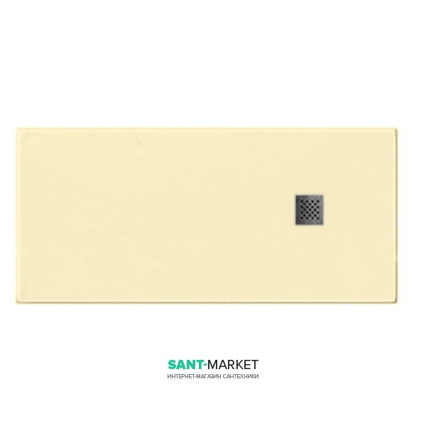 Душевой поддон мраморный Kerasan H2.5 160х80 см кремовый матовый 704265