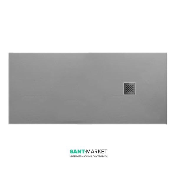 Душевой поддон мраморный Kerasan H2.5 170х80 см серый матовый 704359