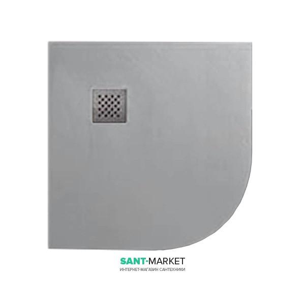 Душевой поддон угловой мраморный Kerasan H2.5 90х90 см серый матовый 704659