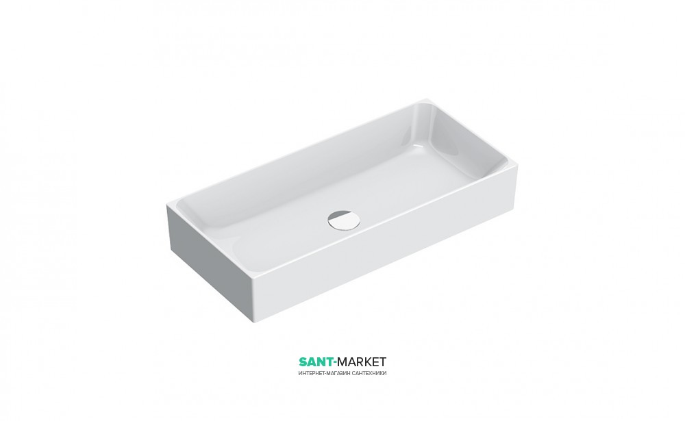 Раковина для ванной накладная Catalano Zero 75х35 керамическая белая 17535ZE00
