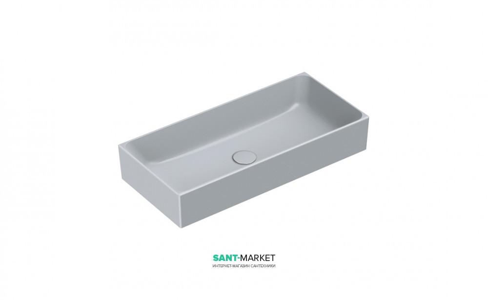 Раковина для ванной накладная Catalano Zero 75х35 керамическая цвет серый матовый 17535ZECS