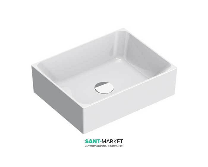 Раковина для ванной накладная Catalano Zero 45х35 керамическая цвет белый матовый 14535ZEBM