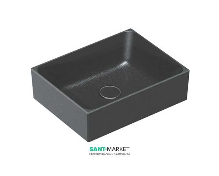 Раковина для ванной накладная Catalano Zero 45х35 керамическая цвет черный матовый 14535ZENS