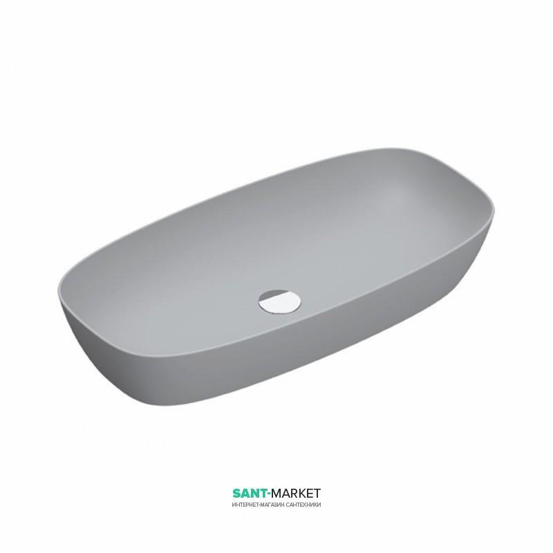 Раковина для ванной накладная Catalano Green Lux 80х40 овальная керамическая цвет цементный матовый 180APGRLXCS