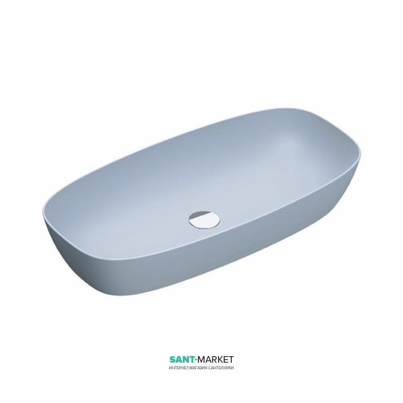 Раковина для ванной накладная Catalano Green Lux 80х40 овальная керамическая цвет голубой матовый 180APGRLXAS
