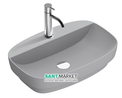 Раковина для ванной накладная Catalano Colori 60х40 керамика цвет цемент поверхность сатин 160GRLXNCS