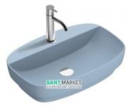 Раковина для ванной накладная Catalano Colori 60х40 керамика цвет синий поверхность сатин 160GRLXNAS