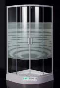 Душевая кабина Eger Tisza (Amur) 90х90 профиль алюминий белый стекло прозрачное с декором Frizek 599-021А