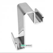 Крючок навесной двухсторонний Eger нержавеющая сталь хром 555-hook