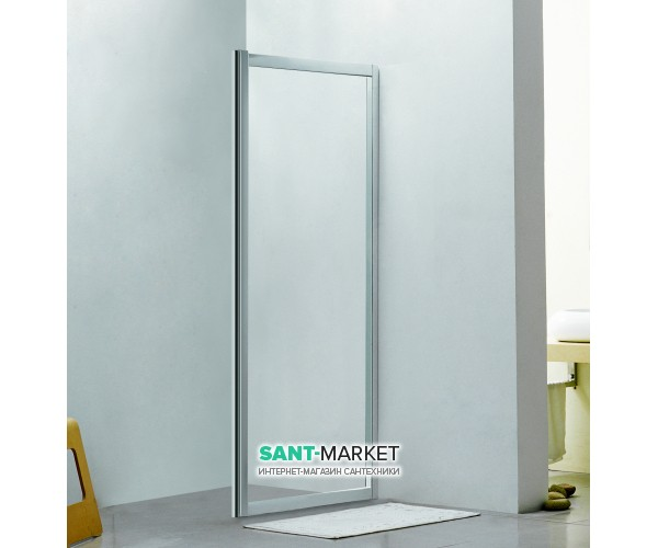 Стенка боковая для душевого уголка Eger 80x195 см для комплектации с дверьми 599-153 (h) прозрачное стекло 599-153-80W(h)
