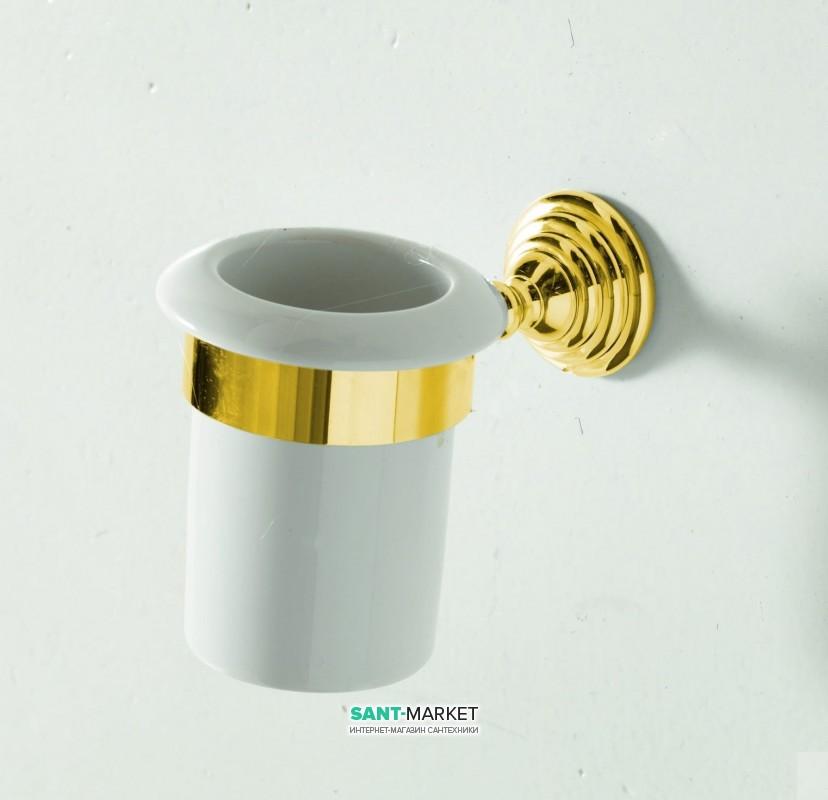 Cтакан для зубных щеток Artceram Victoria настенный белый/золото HEA027 73