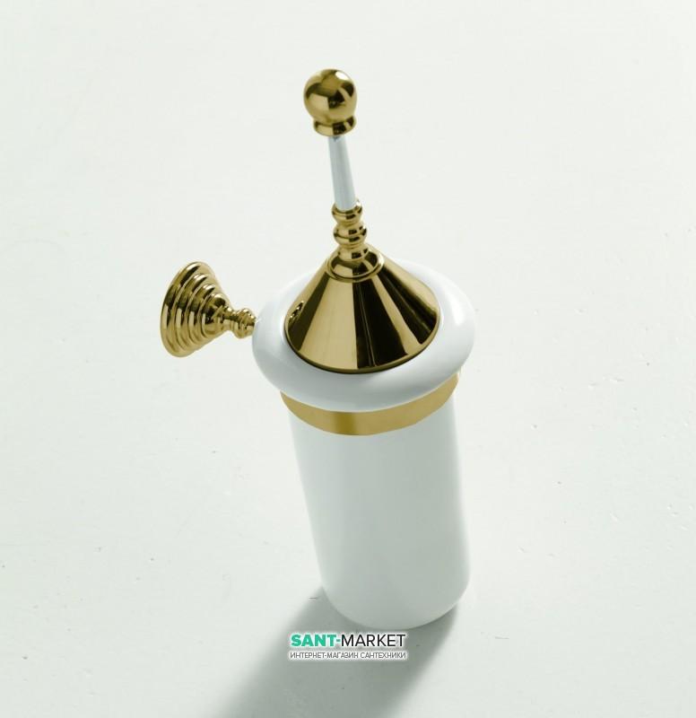 Ершик для унитаза ArtCeram Victoria настенный белый/бронза HEA029 72