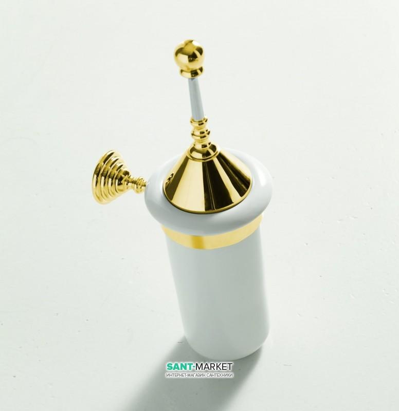 Ершик для унитаза ArtCeram Victoria настенный белый/золото HEA029 73