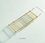 Полочка-решётка для ванной ArtCeram Victoria латунь/керамика золото HEA037 73
