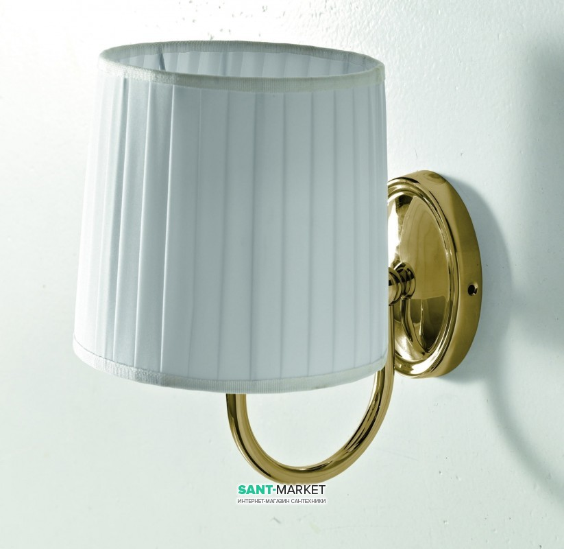 Светильник для ванной ArtCeram Victoria настенный белый/ бронза HEA035 72