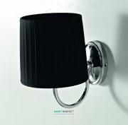 Светильник для ванной ArtCeram Victoria настенный чёрный/хром HEA038 71