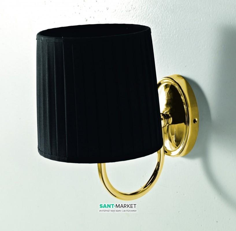 Светильник для ванной ArtCeram Victoria настенный чёрный/золото HEA038 73