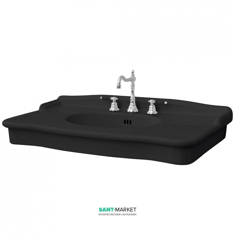 Раковина для ванной ArtCeram Hermitage 112х63 см чёрный глянцевый HEL004 03;00