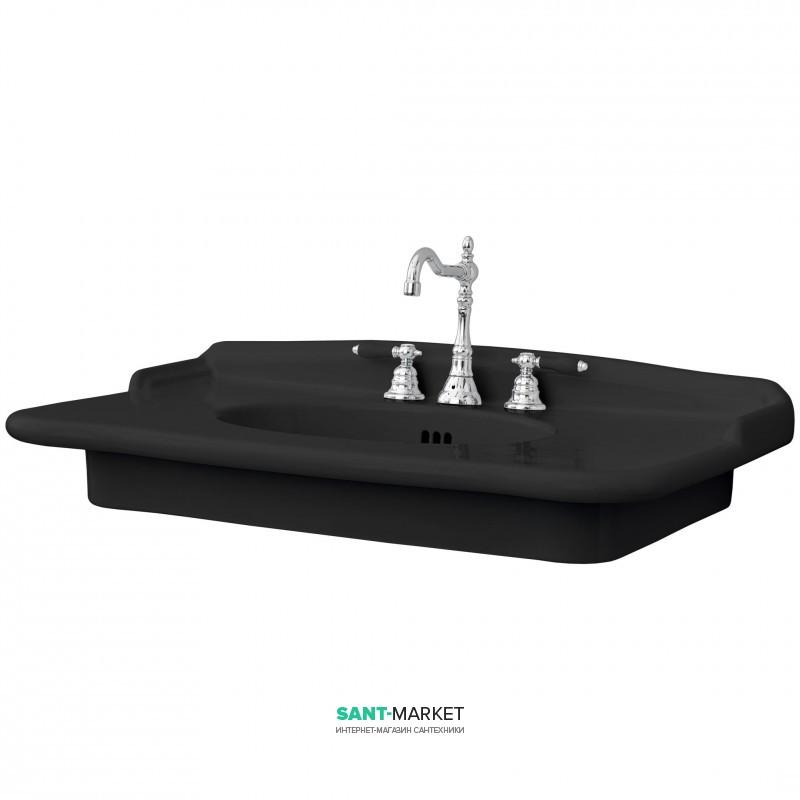 Раковина для ванной ArtCeram Hermitage 93х58 см чёрный глянцевый HEL005 03;00