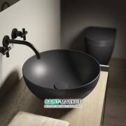 Раковина для ванной Hatria HAPPY HOUR SLIM_Alchemy  ANTHRACITE 400x400 A0Y1VF08