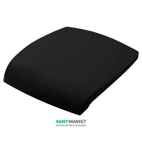 Сиденье с крышкой для унитаза ArtCeram Hi-Line черный глянцевый/золото HIA001 03;73