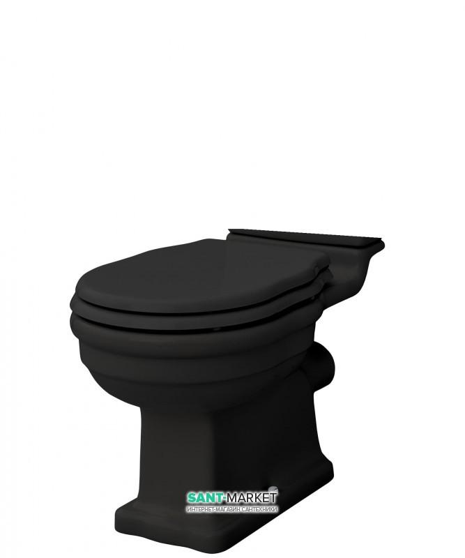 Чаша унитаза-моноблок ArtCeram Hermitage 36х71 см чёрный глянцевый HEV004 03;00