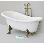 Ванна акриловая отдельностоящая ArtCeram Hermitage 170х80 см белый/бронза HEW001 72