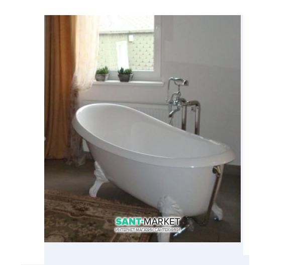 Ванна акриловая отдельностоящая ArtCeram Hermitage 170х80 см белый/белый HEW001 76
