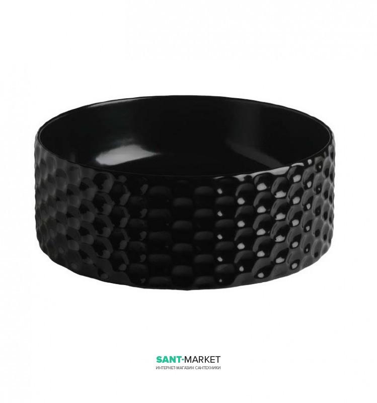 Раковина для ванной ArtCeram Esagono Ø40 см чёрный глянцевый OSL013 03;00