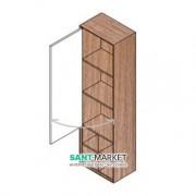 Пенал подвесной Hatria SLIDING wood system 260x400x1400 орех/белый глянцевый YXQB92