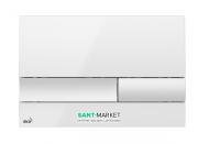 Кнопка управления AlcaPlast для скрытых систем инсталляции белый глянец M1730