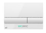 Кнопка управления AlcaPlast для скрытых систем инсталляции белый M1710