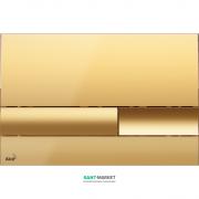 Кнопка управления AlcaPlast для скрытых систем инсталляции золото M1745