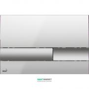 Кнопка управления AlcaPlast для скрытых систем инсталляции хром матовый/глянцевый M1743