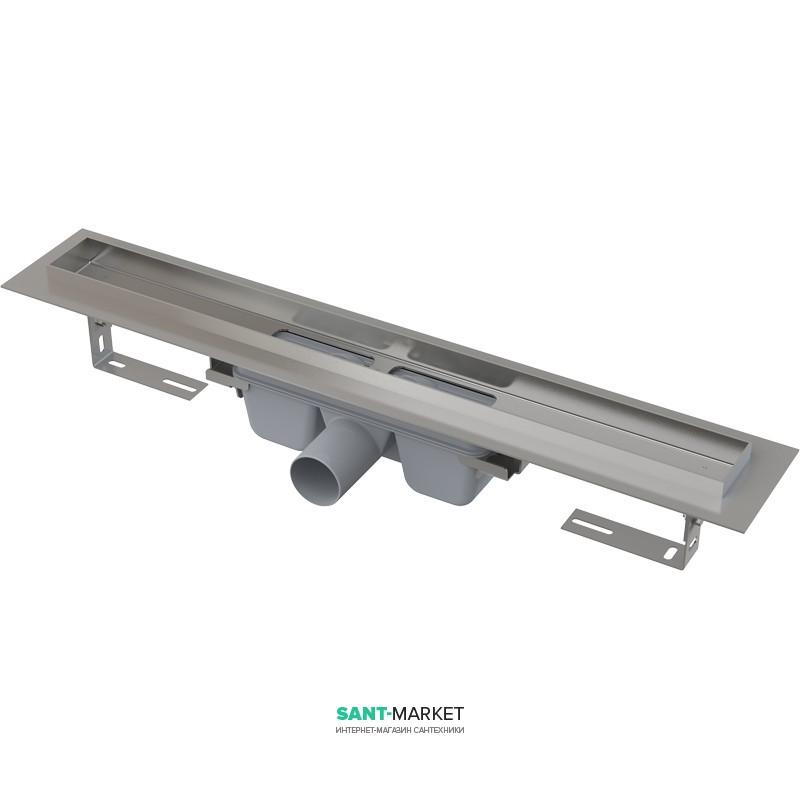 Водосточный желоб AlcaPlast APZ6 Professional 750 мм Smart нержавеющая сталь APZ6-750