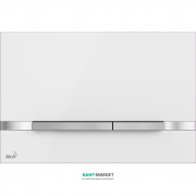 Кнопка управления AlcaPlast Flat Stripe White для скрытых систем инсталляций STRIPE-WHITE