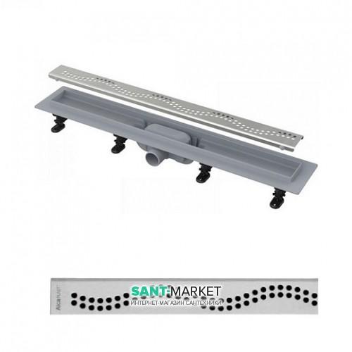 Водосточный желоб AlcaPlast APZ8 650 мм с решеткой Simple APZ8-650m