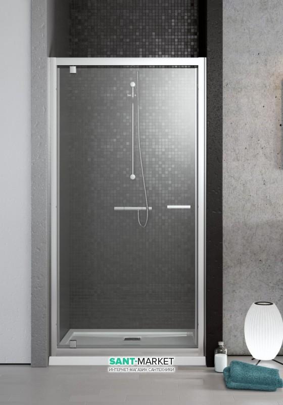 Душевая дверь Radaway Twist DW 80 профиль хром прозрачное стекло 382001-01